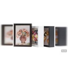 3D shadow box photo picture frame  black 5x7