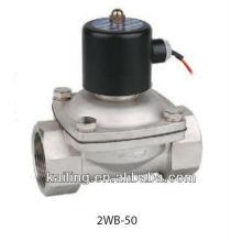 Válvula solenóide de fluido 2/2 vias com corpo em aço inoxidável
