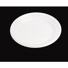 Round Soft Plastic Party Plate 8""