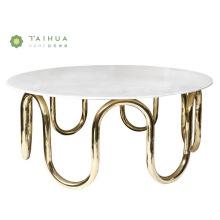 Table Basse Centre Avec Dessus En Marbre Blanc