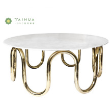 Center Coffee Table With White Marble Top