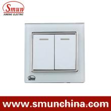 2fach Weiß Touch-Schalter, Wandschalter, Steckdose