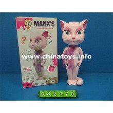 Hot Selliing Plastic Toy B/O Comcat with Record (082470)