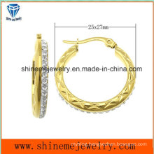 Shineme Jewelry Fashion Stainless Steel Plating Gold Earring  (ERS6904)