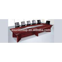 Konferenztisch Holzveredelung, Einschichtiger Schreibtisch für Büro-Tagungsraum (T02)