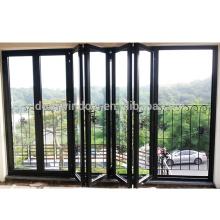 Ordene desde China las puertas de entrada principal de diseño de doble puerta plegable de vidrio doble con revestimiento de baja e