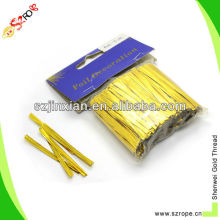 Foil paper double wire twist ties ,clipband,bag closures