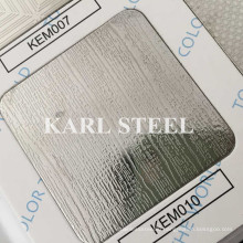 201 Stainless Steel Silver Color Embossed Kem010 Sheet