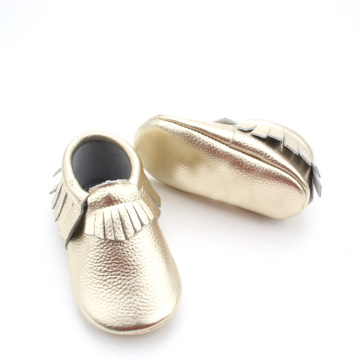 Custom Fringe Tassel Baby Soft Leather Moccasins Shoes