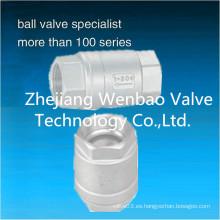 Válvula de retención vertical de acero inoxidable 1000 Wog