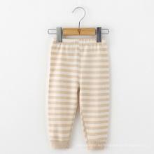 Pantalones 100% algodón orgánico bebé rayas infantiles