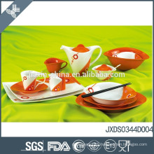 New Oval shape 47PCS Porcelain Dinner Set, colored dinner set,