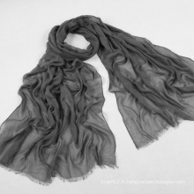 Écharpe longue couleur pure de la viscose