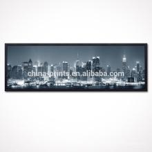 Impresión de la lona de la noche de la ciudad / arte de la lona de gran tamaño / marco del flotador impresiones de lienzo
