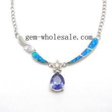 Collar creado joyería de ópalo (YN0005)