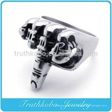 ТКБ-R0056 средний палец, стряхивая байкер птица кольцо - 316L нержавеющая сталь браслет
