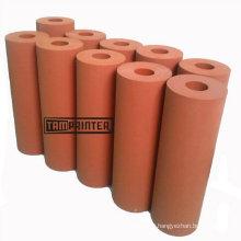 Rolo de borracha vermelho rolo de Silicone para máquina de transferência de calor