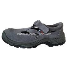 Lässige Sandale Stil Wildleder Leder Sicherheit Arbeitsschuhe (HQ-027)