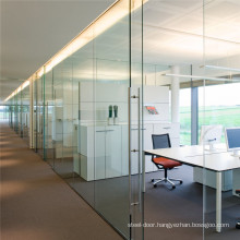 Glass Wall System Partition Price Interior Exterior with Aluminium Framed Frameless Door Sliding Folding Movable Frosted