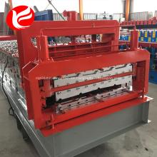 Rollo de acero de doble capa de color que forma la máquina