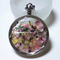 Tourmaline Chips Pocket Watch Forme Pendentif Souhaitant Bouteille Collier