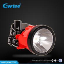 Farol do diodo emissor de luz para a mineração de carvão que acampa, farol, lâmpada de emergência / farol de mineração conduzido recarregável