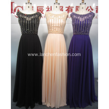 Latest Beading Long Evening Dress Formal Gowns