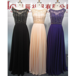 Chiffon Ball Gown Empire Waist