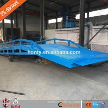 6 toneladas de carga 1,8 m rampa de hierro del coche hidráulico móvil rampa