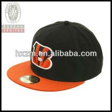 number elastic flat circular brim embroidery snapback hat&cap