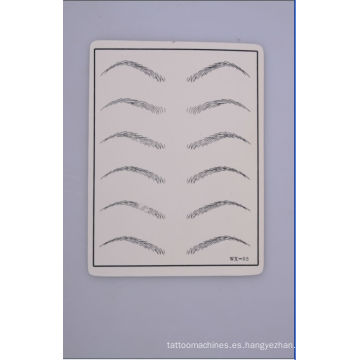 Venta al por mayor alta calidad y piel de la práctica del tatuaje de la ceja barata