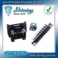 Conector de bloque de terminales de plástico de 15 amperios montado en carril DIN TS-015