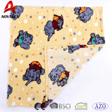 animal pattern printed flannel fleece knitted baby flannel blanket
