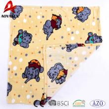 Padrão animal impresso flanela de lã de malha cobertor de flanela bebê