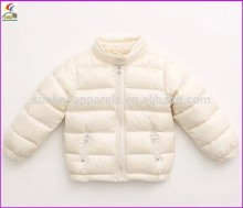 2015 waterproof down feather jacket for kids