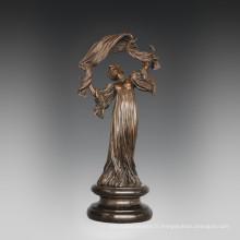 Statuette Classique Statue Rétro Danseuse Bronze Sculpture TPE-756 ~ 759