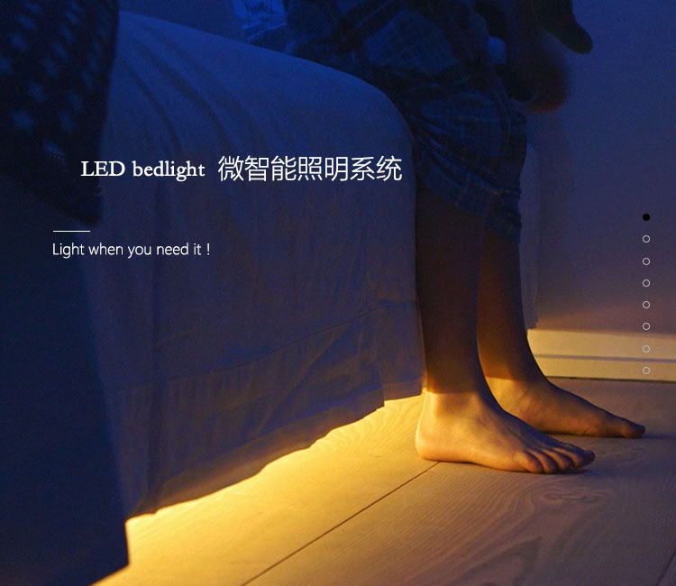 Double Motion Bed LED Sensor Bed Light