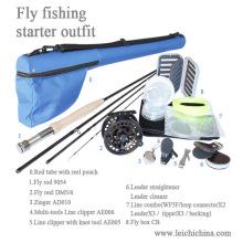 Conjunto de equipamento de partida de pesca com mosca com categoria superior