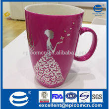 2014 New Arrival 400ml 14oz glazed new bone china mugs with bright colors
