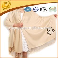 2015 Nouvelle arrivée haute qualité à la mode couleur solide brossé Vente en gros Pashmina turque