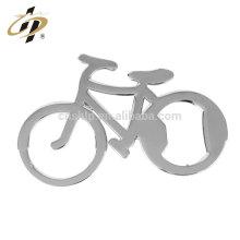Atacado barato personalizado bicicleta bicicleta forma metal cerveja abridor de garrafas