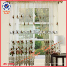 Rod Pocket Embroidery Lace Sheer Curtain