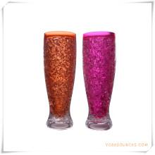 Tasse givrée à double paroi Tasse à bière glacée glacée pour cadeaux promotionnels (HA09078-2)