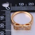 diseño de arco anillo de zafiro rosa diamante de plata esterlina 925