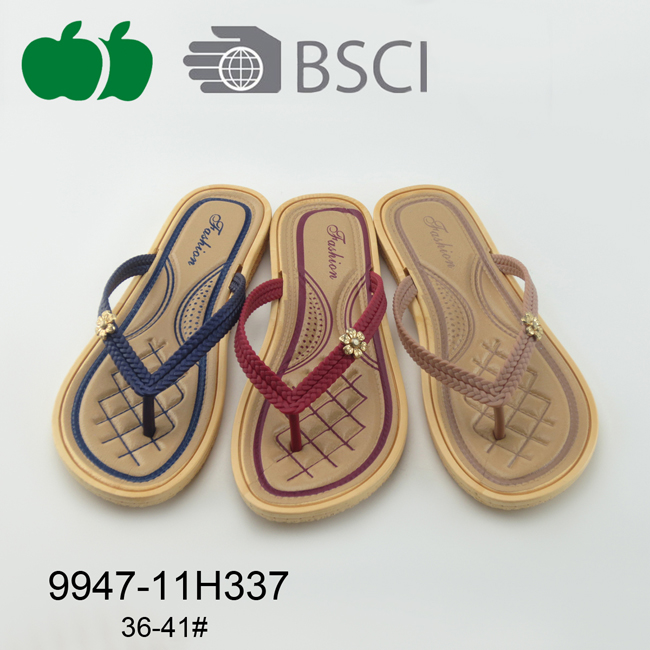 New Design Ladies Summer Plastic Flip Flops