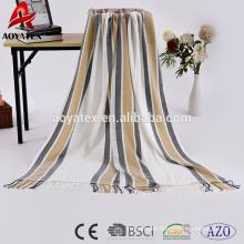 100 acrylic woven print hotel blanket china market