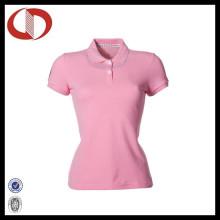 100% Baumwolle neue Art-Kurzschluss-Hülsen-Polo-Hemden für Damen
