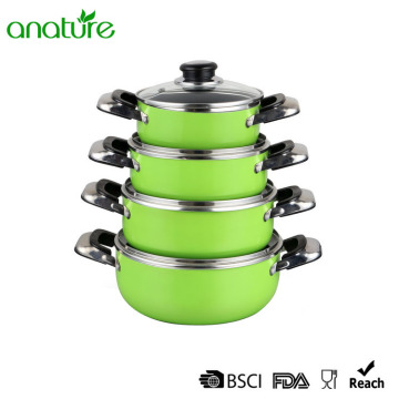 Green Heat Resistant Nonstick Sauce Pot Sets
