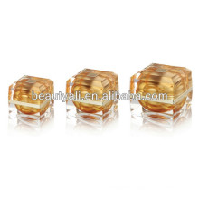 15ml 30ml 50ml Luxury Golden Cosmetic Cream Jar