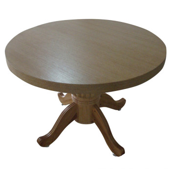 Round Wooden Dining Table for Hotel Furniture